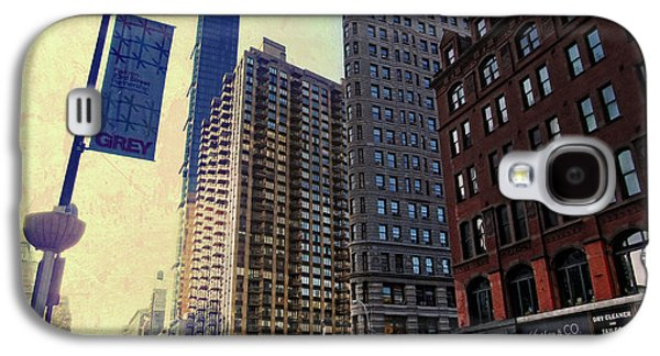 Flat Iron Galaxy S4 Cases - Flat Iron Building Poster Galaxy S4 Case by Nishanth Gopinathan