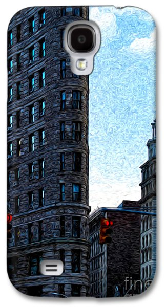 Flat Iron Galaxy S4 Cases - Flat Iron NYC Galaxy S4 Case by Sabine Jacobs