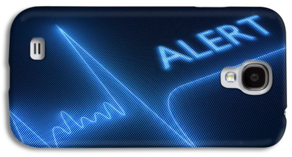 Equipment Galaxy S4 Cases - Flat line alert on heart monitor Galaxy S4 Case by Johan Swanepoel