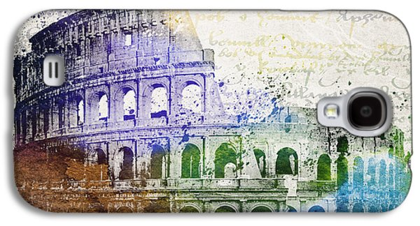 Buildings Mixed Media Galaxy S4 Cases - Flavian Amphitheatre Galaxy S4 Case by Aged Pixel
