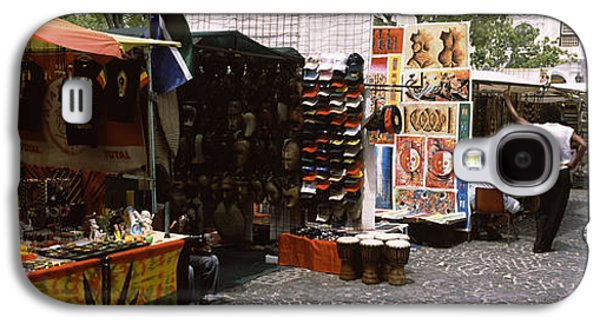 Business Galaxy S4 Cases - Flea Market At A Roadside, Greenmarket Galaxy S4 Case by Panoramic Images
