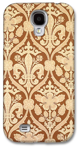 Floral Tapestries - Textiles Galaxy S4 Cases - Fleur-de-Lis Galaxy S4 Case by Augustus Welby Pugin