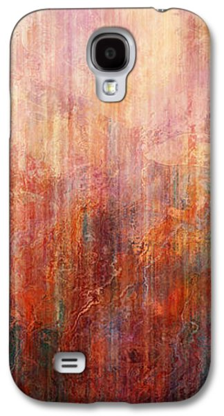 Abstract Landscape Digital Art Galaxy S4 Cases - Flight Home - Abstract Art Galaxy S4 Case by Jaison Cianelli