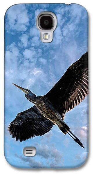 Great Birds Galaxy S4 Cases - Flight Of The Heron Galaxy S4 Case by Bob Orsillo
