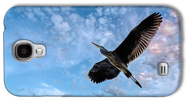 Inspirational Photographs Galaxy S4 Cases - Flight Of The Heron Galaxy S4 Case by Bob Orsillo