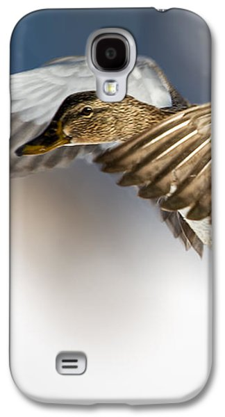 Man Cave Photographs Galaxy S4 Cases - Flight of the Mallard Galaxy S4 Case by Bob Orsillo