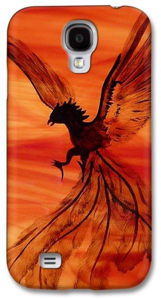 Fantasy Glass Galaxy S4 Cases - Flight of the Phoenix Galaxy S4 Case by Samantha  Calder