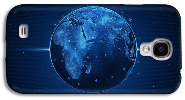 Animation Galaxy S4 Cases - Flights and Earth Galaxy S4 Case by Gianfranco Weiss