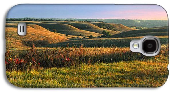 Autumn Landscape Photographs Galaxy S4 Cases - Flint Hills Shadow Dance Galaxy S4 Case by Rod Seel