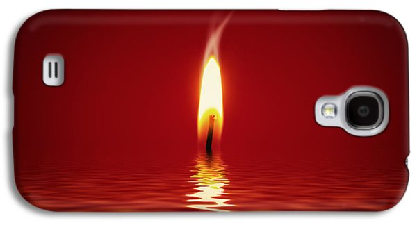 Alone Digital Art Galaxy S4 Cases - Floating Candlelight Galaxy S4 Case by Wim Lanclus