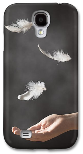 Floating Girl Galaxy S4 Cases - Floating Feathers Galaxy S4 Case by Amanda And Christopher Elwell