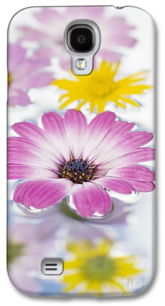 Abstract Nature Galaxy S4 Cases - Floating flowers Galaxy S4 Case by Tim Gainey