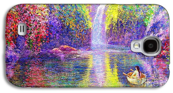 Canoe Galaxy S4 Cases - Floating Galaxy S4 Case by Jane Small