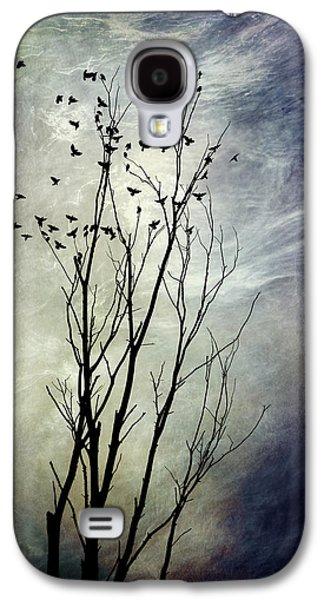 Rollo Digital Art Galaxy S4 Cases - Flock Of Birds In Silhouette Galaxy S4 Case by Christina Rollo