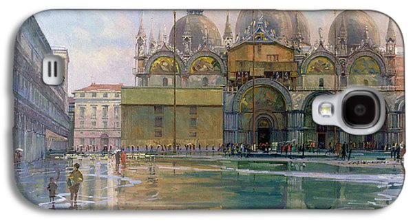 Flooding Galaxy S4 Cases - Flood Tide, Venice, 1992 Oil On Canvas Galaxy S4 Case by Bob Brown