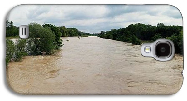 Flooding On The River Thur Galaxy S4 Case by Michael Szoenyi