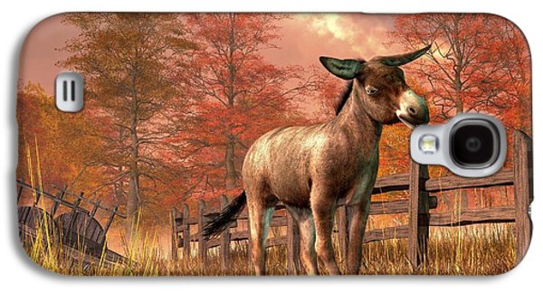 Donkey Digital Art Galaxy S4 Cases - Flop Eared Donkey Galaxy S4 Case by Daniel Eskridge