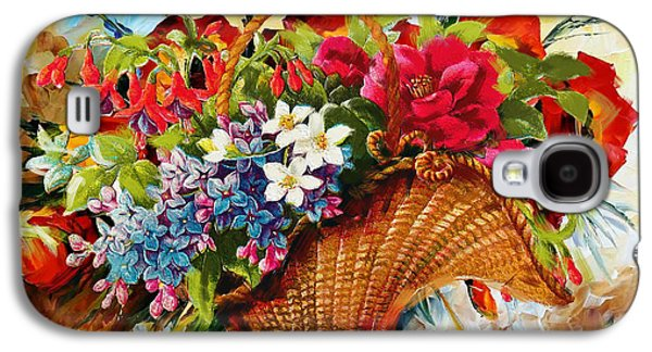 Vase Of Flowers Galaxy S4 Cases - Floral 11 Galaxy S4 Case by Mahnoor Shah