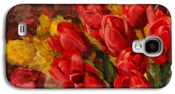 Vase Of Flowers Galaxy S4 Cases - Floral 12B Galaxy S4 Case by Mahnoor Shah