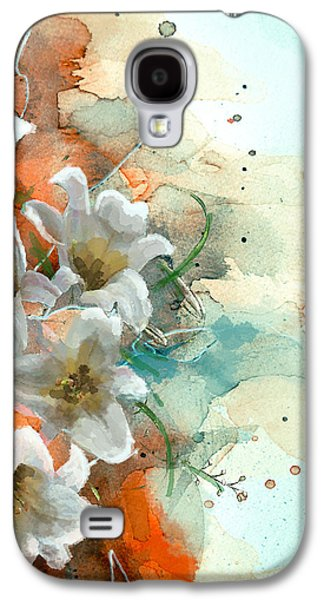 Vase Of Flowers Galaxy S4 Cases - Floral 14 Galaxy S4 Case by Mahnoor Shah