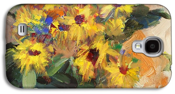 Vase Of Flowers Galaxy S4 Cases - Floral 15 Galaxy S4 Case by Mahnoor Shah