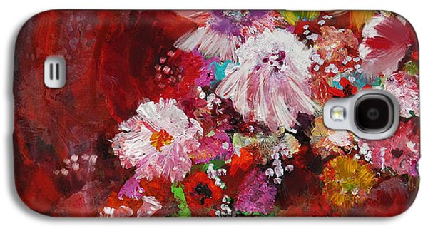 Vase Of Flowers Galaxy S4 Cases - Floral 18 Galaxy S4 Case by Mahnoor Shah