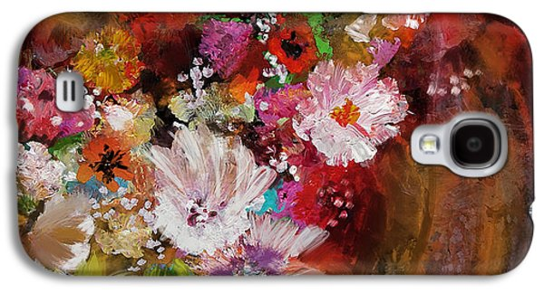 Vase Of Flowers Galaxy S4 Cases - Floral 18B Galaxy S4 Case by Mahnoor Shah