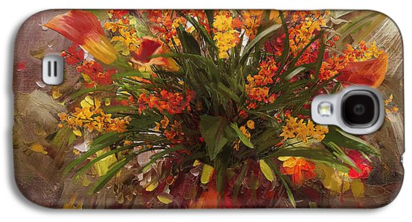 Vase Of Flowers Galaxy S4 Cases - Floral 8 Galaxy S4 Case by Mahnoor Shah