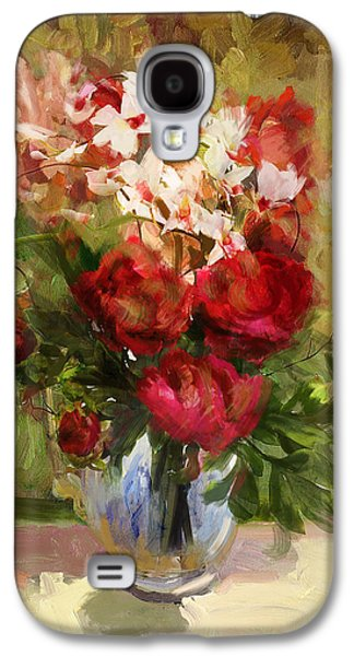 Vase Of Flowers Galaxy S4 Cases - Floral 9 Galaxy S4 Case by Mahnoor Shah