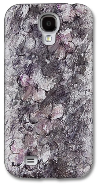 Dreamscape Drawings Galaxy S4 Cases - floral cascade II Galaxy S4 Case by Rachel Christine Nowicki