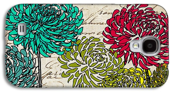 Geometric Art Galaxy S4 Cases - Floral Delight II Galaxy S4 Case by Lourry Legarde