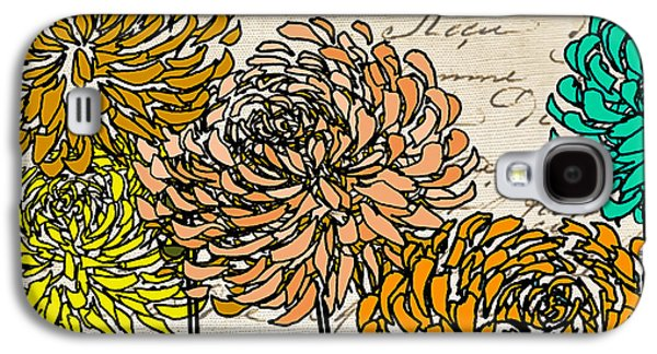 Geometric Art Galaxy S4 Cases - Floral Delight III Galaxy S4 Case by Lourry Legarde