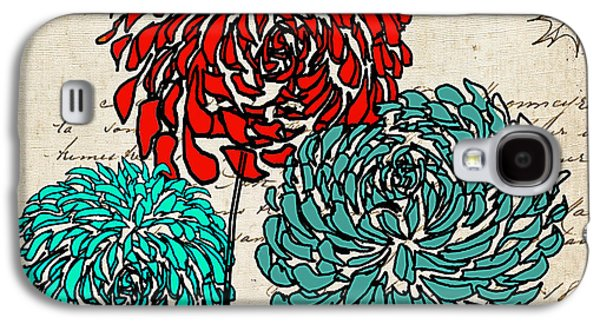 Geometric Art Galaxy S4 Cases - Floral Delight IV Galaxy S4 Case by Lourry Legarde
