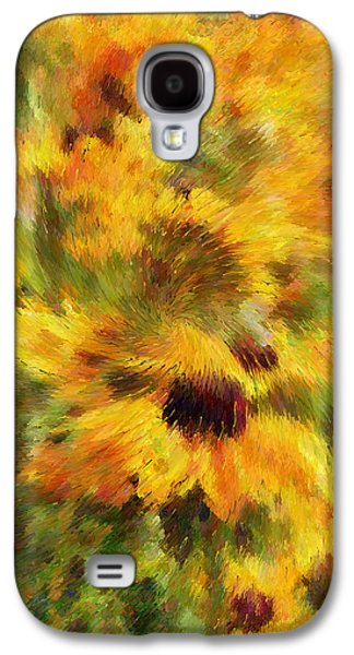 Abstract Digital Mixed Media Galaxy S4 Cases - Floral Explosion Abstract Galaxy S4 Case by Georgiana Romanovna