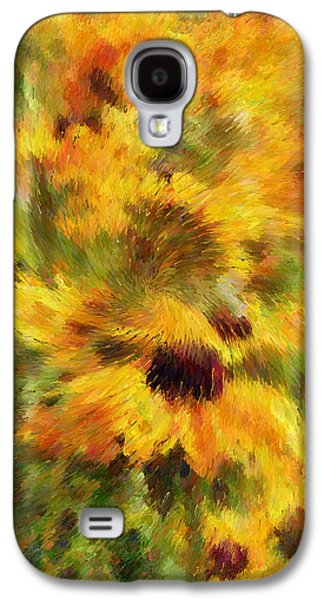 Floral Explosion Abstract Galaxy S4 Case by Georgiana Romanovna