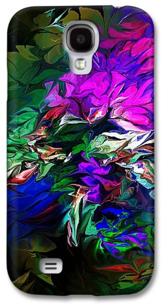 Abstract Digital Art Galaxy S4 Cases - Floral Fantasy 091713 Galaxy S4 Case by David Lane