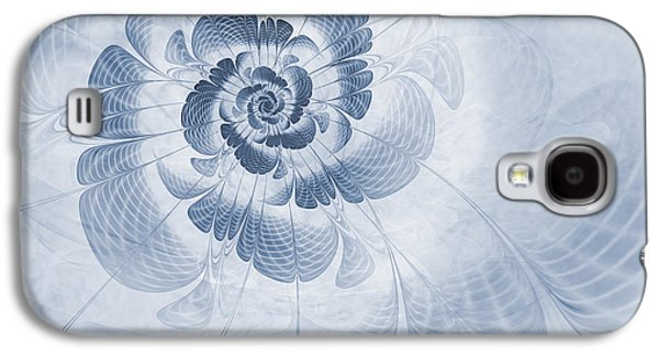 Abstract Digital Galaxy S4 Cases - Floral Impression Cyanotype Galaxy S4 Case by John Edwards