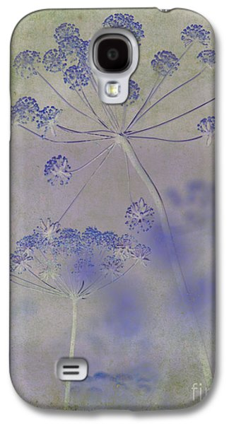 Nature Abstract Galaxy S4 Cases - Floral in Blue Galaxy S4 Case by Sharon Elliott