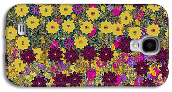 Contemplative Mixed Media Galaxy S4 Cases - Floral in the sun dancing in the air Galaxy S4 Case by Pepita Selles