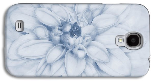 Macro Digital Art Galaxy S4 Cases - Floral Layers Cyanotype Galaxy S4 Case by John Edwards