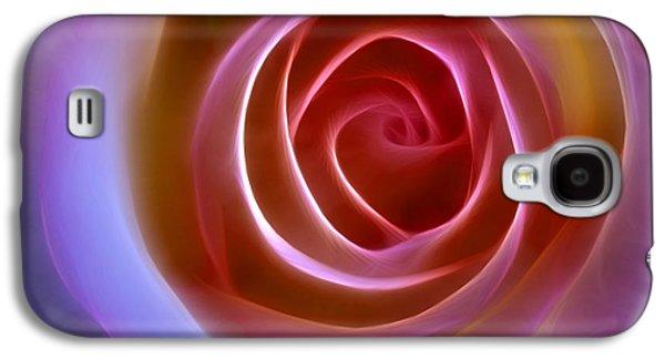 Floral Digital Digital Galaxy S4 Cases - Floral Light Galaxy S4 Case by Ann Croon