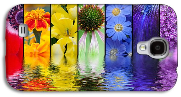 Water Filter Galaxy S4 Cases - Floral Rainbow Galaxy S4 Case by Tim Gainey