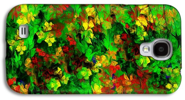 Abstract Digital Galaxy S4 Cases - Floral Riot Galaxy S4 Case by David Lane
