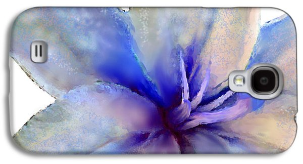 Realism Mixed Media Galaxy S4 Cases - Floral series - Lily Galaxy S4 Case by Moon Stumpp