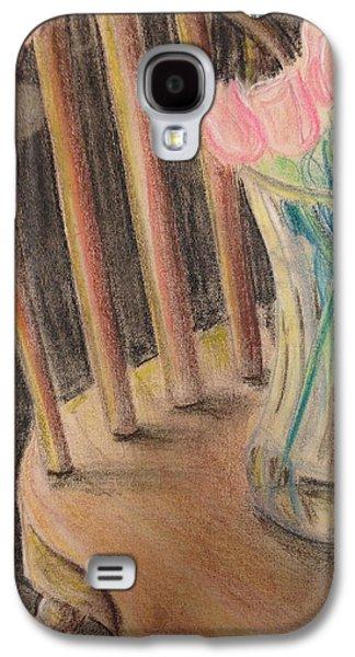 Interior Still Life Drawings Galaxy S4 Cases - Floral Still Life Galaxy S4 Case by SL Sistrunk