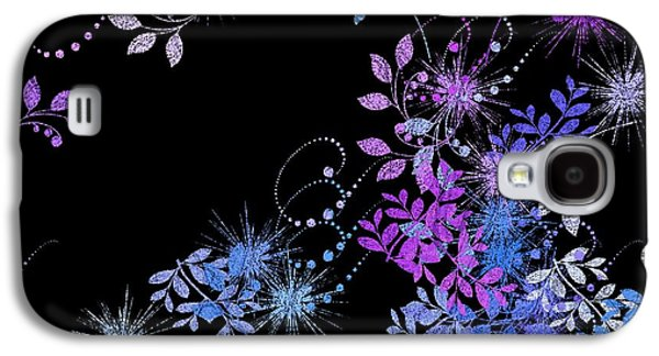 Glitters Galaxy S4 Cases - Floralities - 02a Galaxy S4 Case by Variance Collections