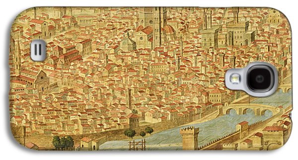 Cities Drawings Galaxy S4 Cases - Florence  Carta della Catena Galaxy S4 Case by Italian School