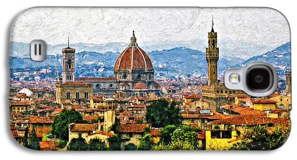 Landscape Metal Prints Galaxy S4 Cases - Florence impasto Galaxy S4 Case by Steve Harrington