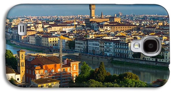 Tuscan Sunset Galaxy S4 Cases - Florence Panorama Galaxy S4 Case by Inge Johnsson