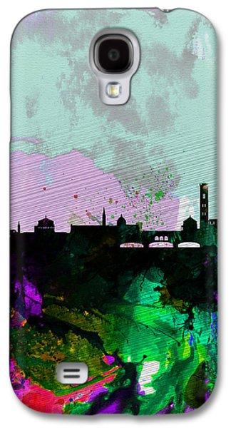 European City Digital Art Galaxy S4 Cases - Florence Watercolor Skyline Galaxy S4 Case by Naxart Studio